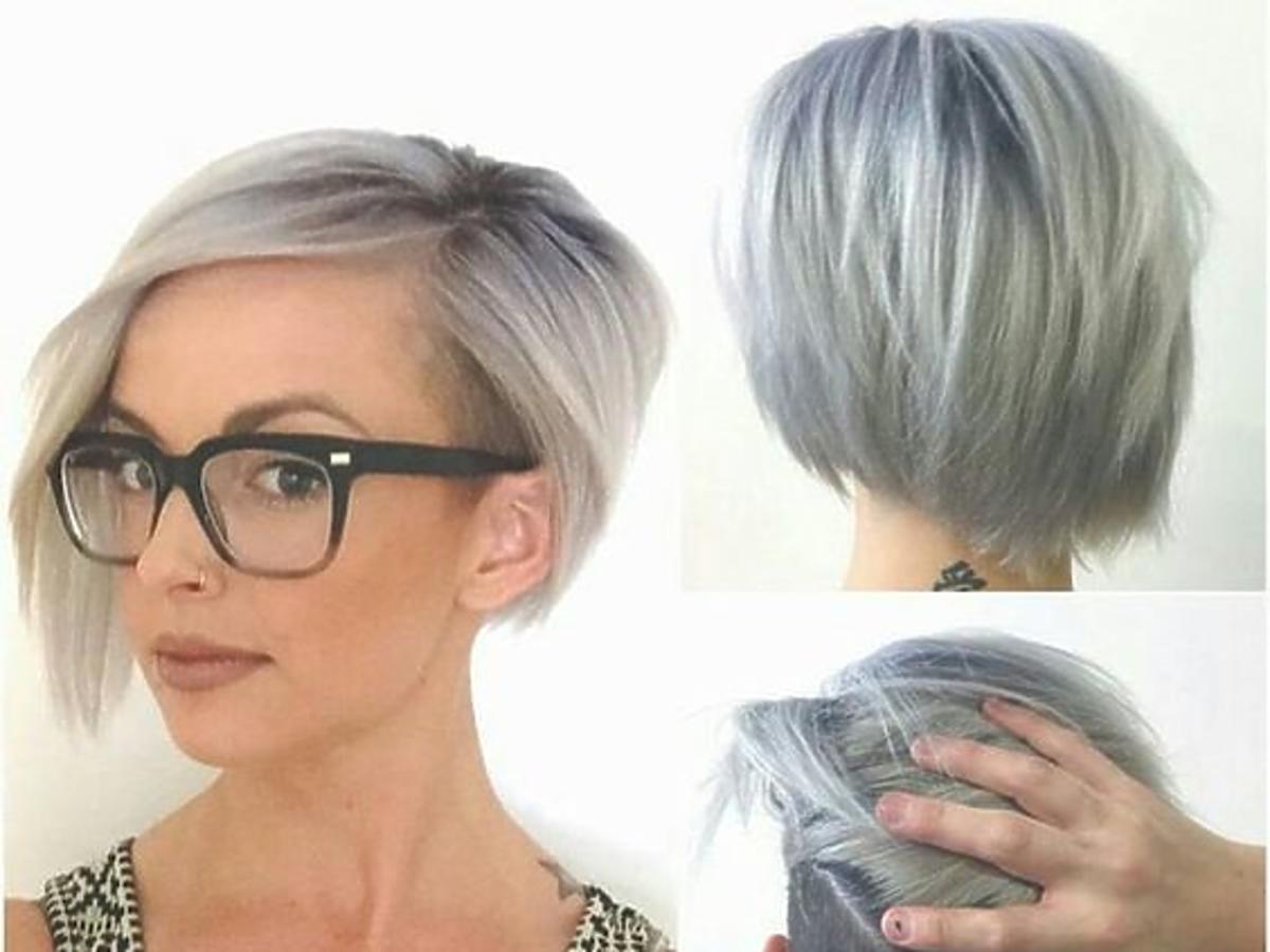 Asymetryczna fryzura bob