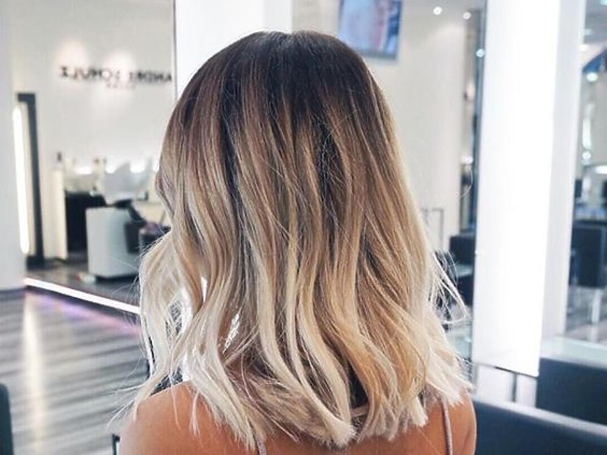 Ombre na krótkich włosach