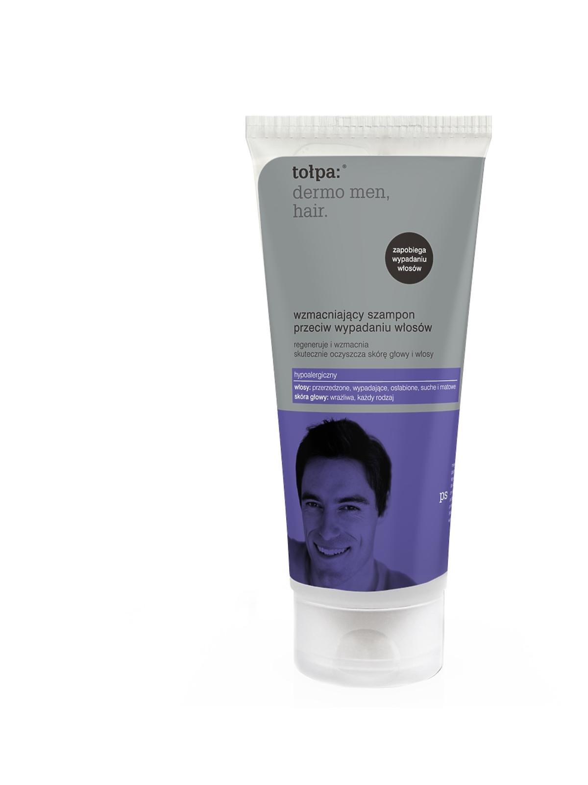 tołpa, dermo man, hair, wzmacniający szampon przeciw wypadaniu włosów