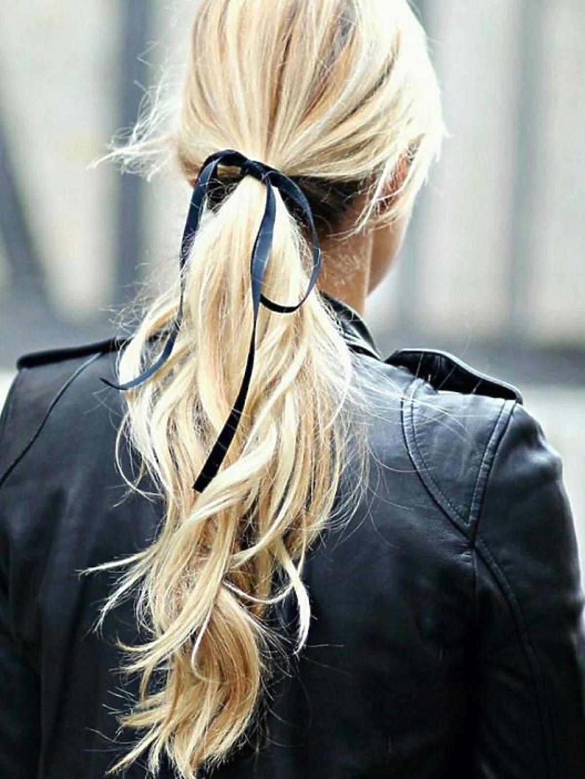 Low back ponytail