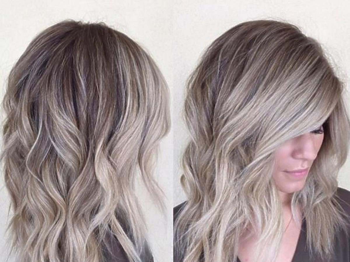 Popielaty, mroźny blond
