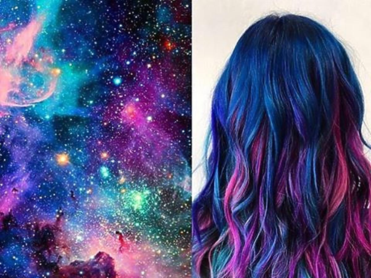 Galaxy Glam na włosach