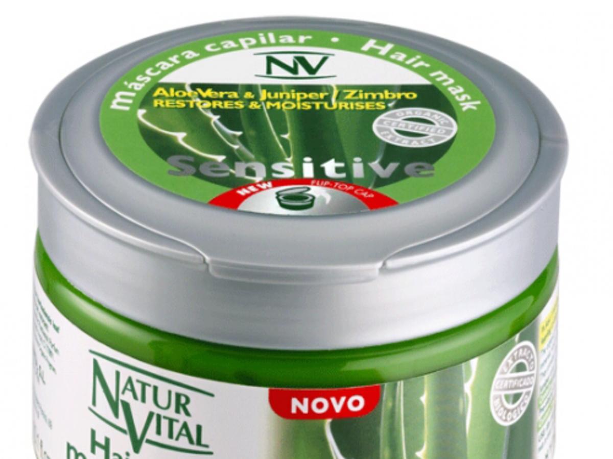 NaturVital, Sensitive Hair Mask Aloe Vera Juniper Zimbro
