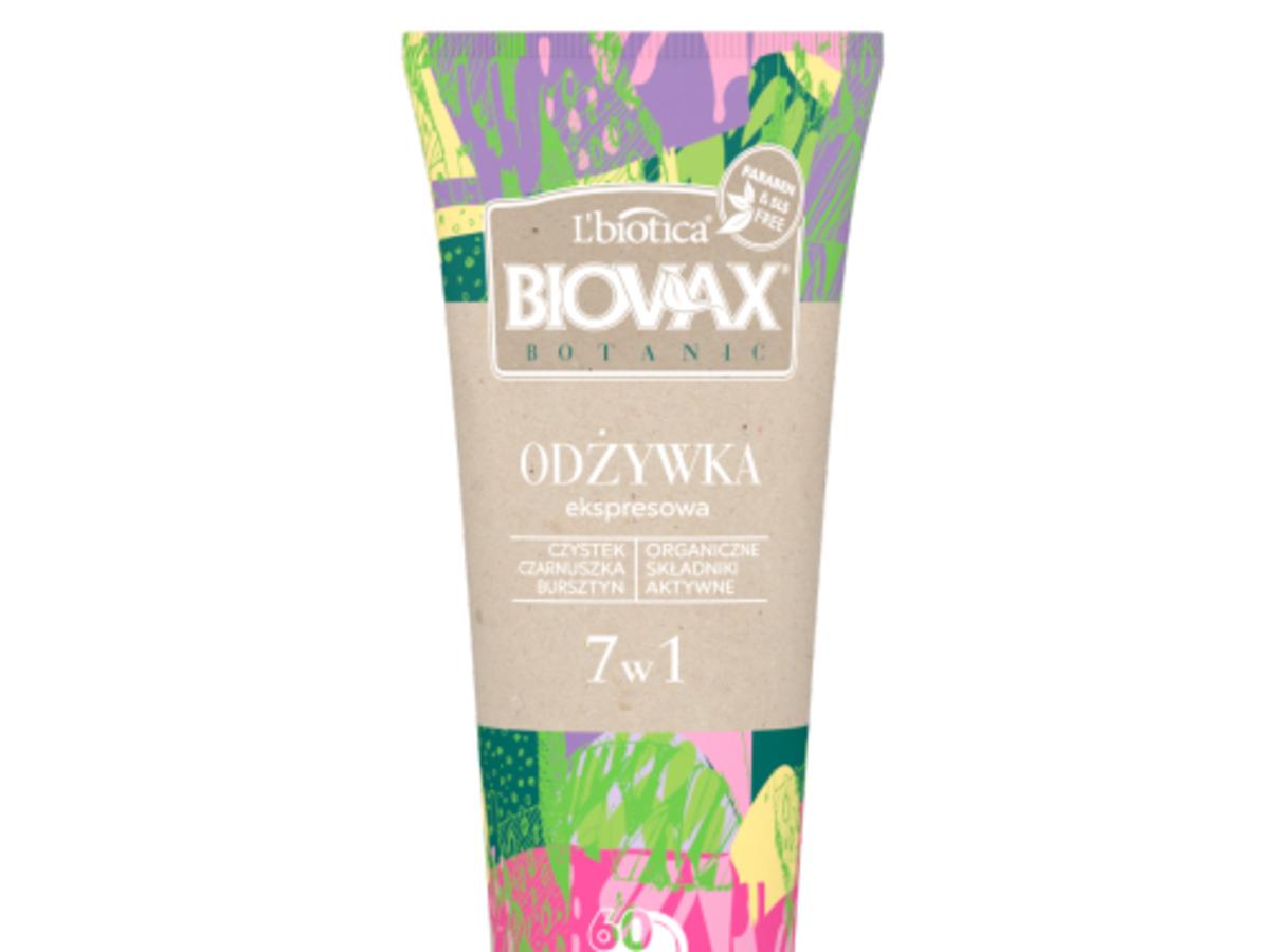 L'biotica, Biovax Botanic, Ekspresowa Odzywka 7 w 1 `Czystek, Czarnuszka i Bursztyn`