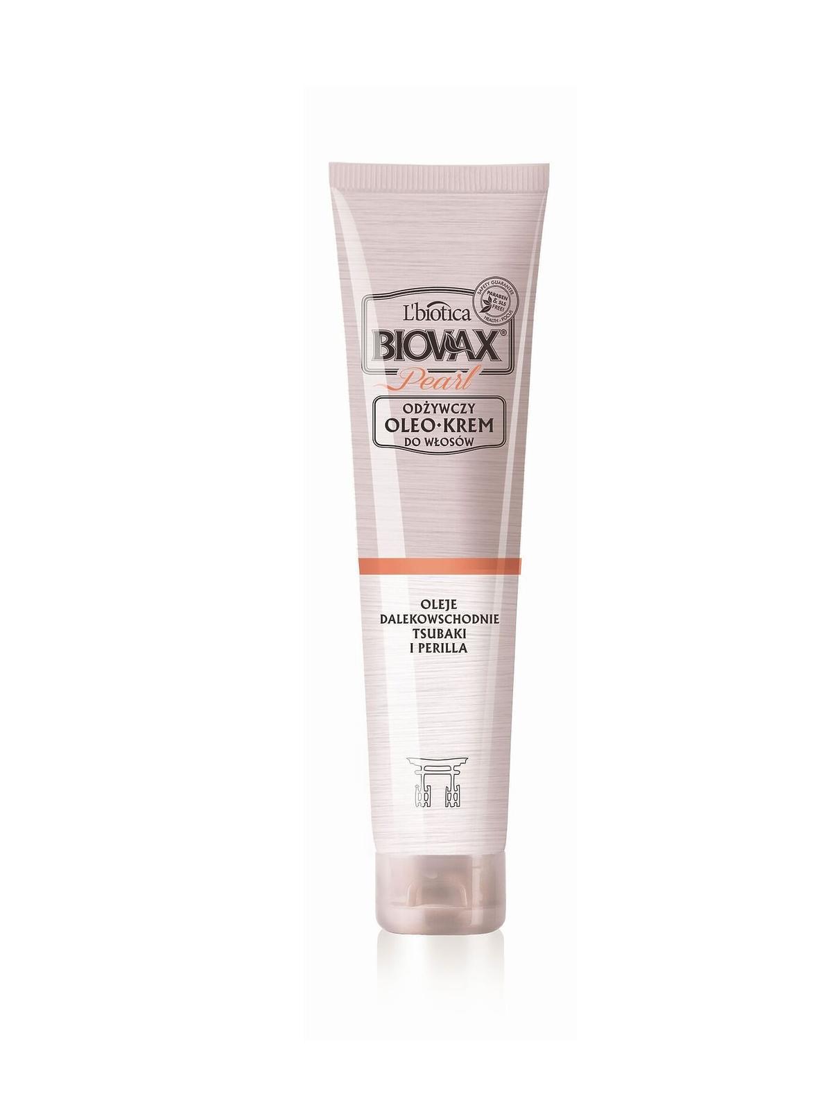 L'biotica, Biovax Glamour Pearl, odżywczy OleoKrem do włosów - Oleje dalekowschodnie Tsubaki i Perilla