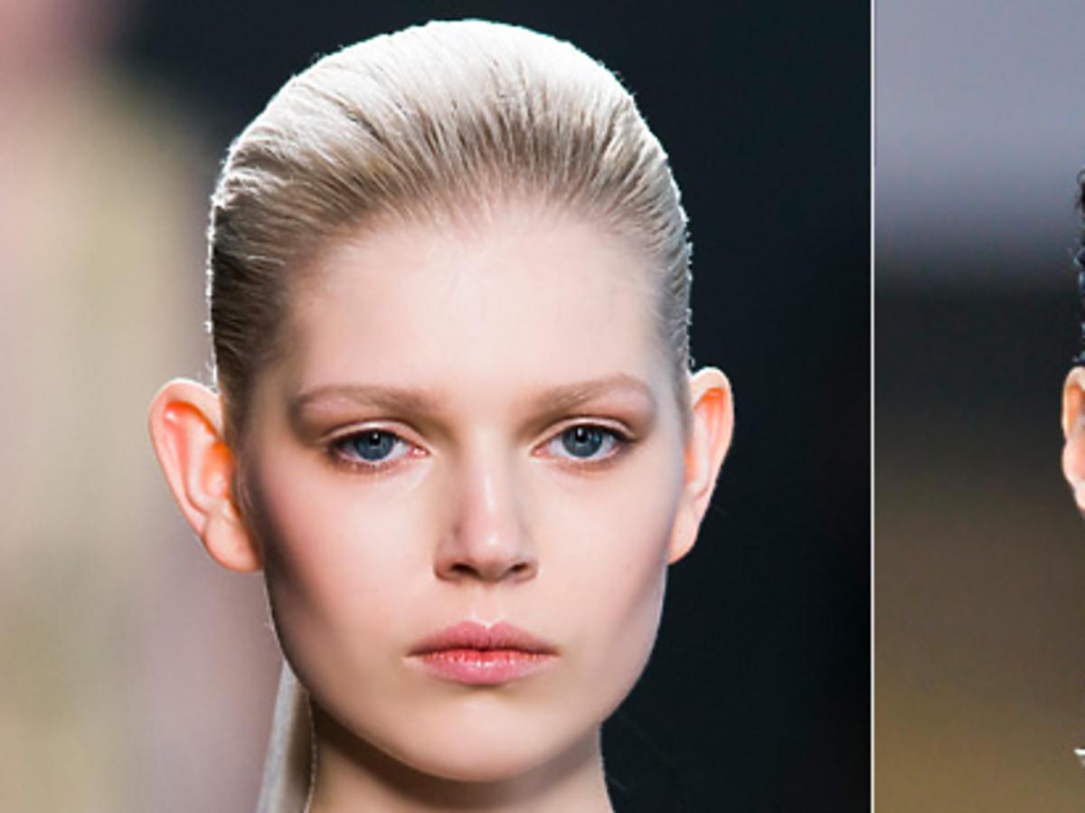 Ciasno spięte włosy - Bottega Veneta, Celine