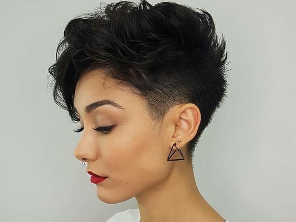 Rzadkie włosy - pixie