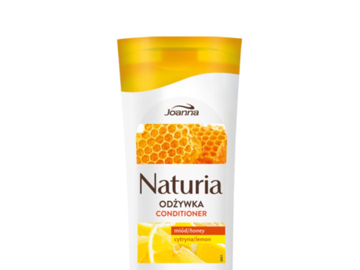 Joanna, Naturia, Odżywka z miodem i cytryną do włosów farbowanych, suchych i zniszczonych