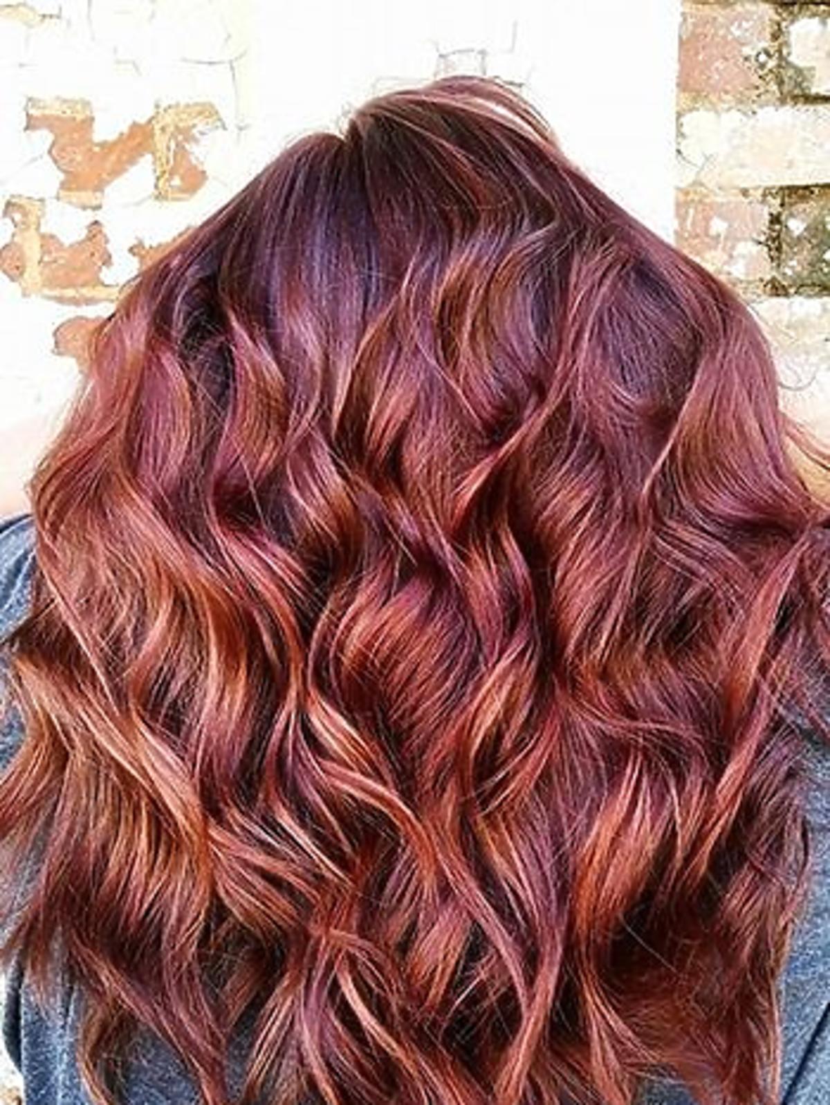Koloryzacja violet-copper
