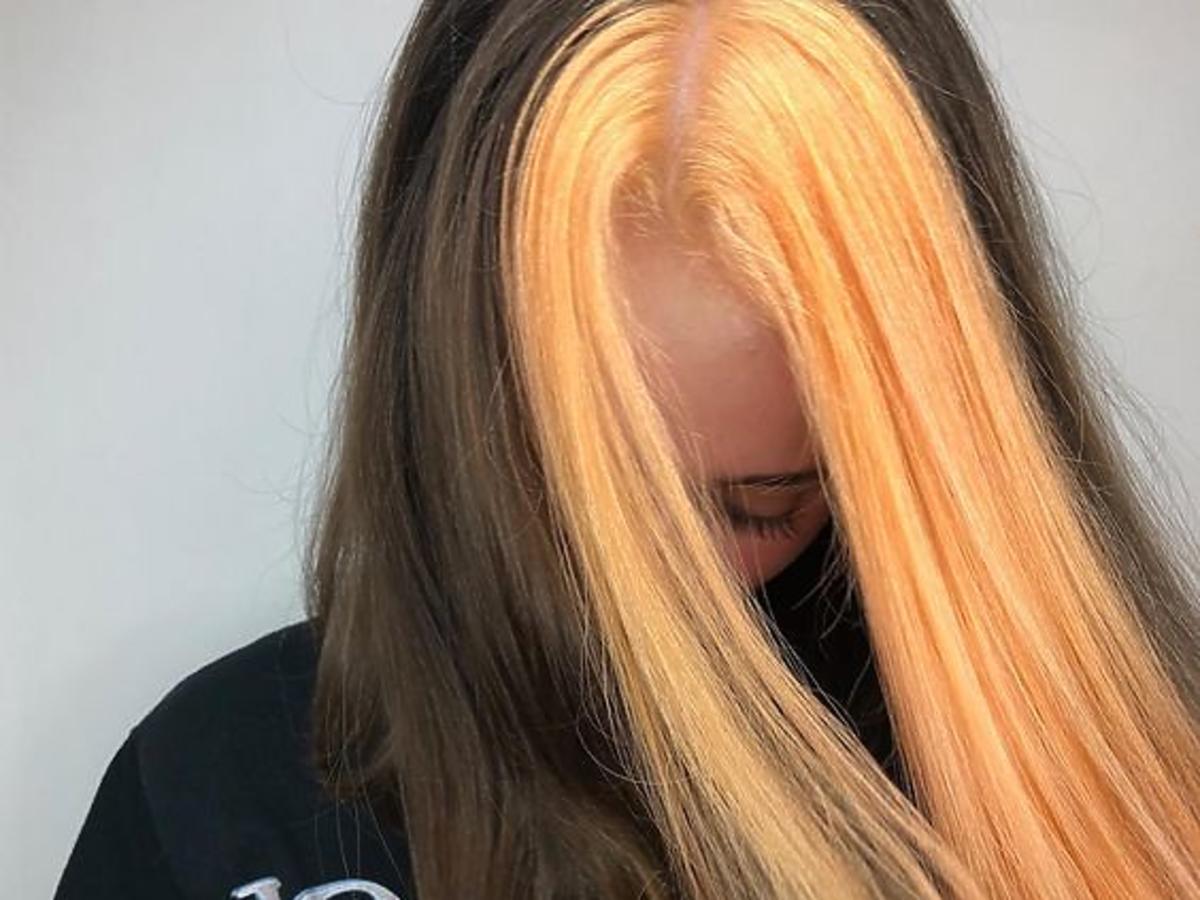 Dwykolorowe włosy trendem na jesień 2019
