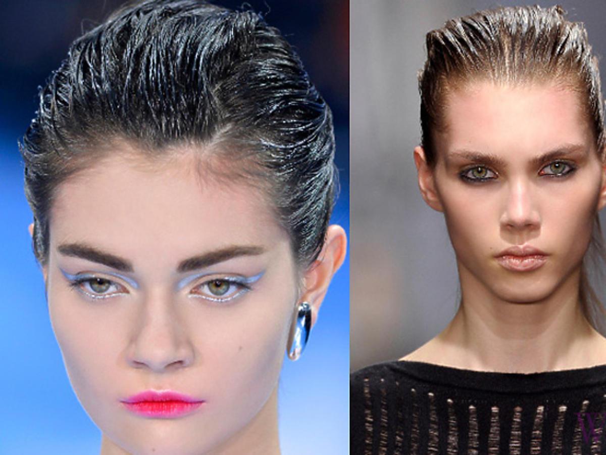 Efekt wilgotnych włosów, Dior, Missoni
