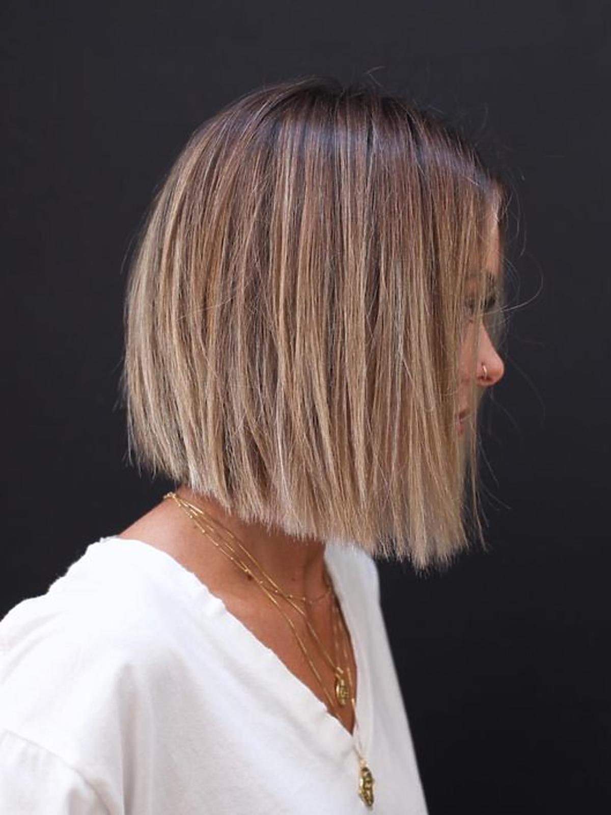 Rzadkie włosy - blunt bob