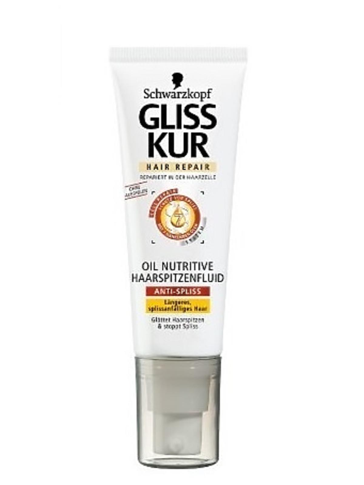 Schwarzkopf Gliss Kur, Oil Nutritive, Fluid na końcówki z siedmioma olejkami