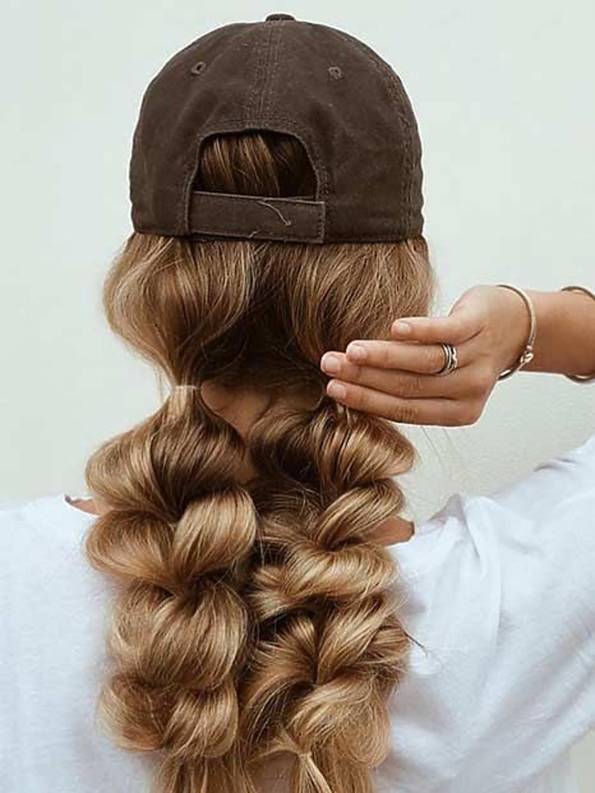 Warkocz - fryzura w stylu bubbles