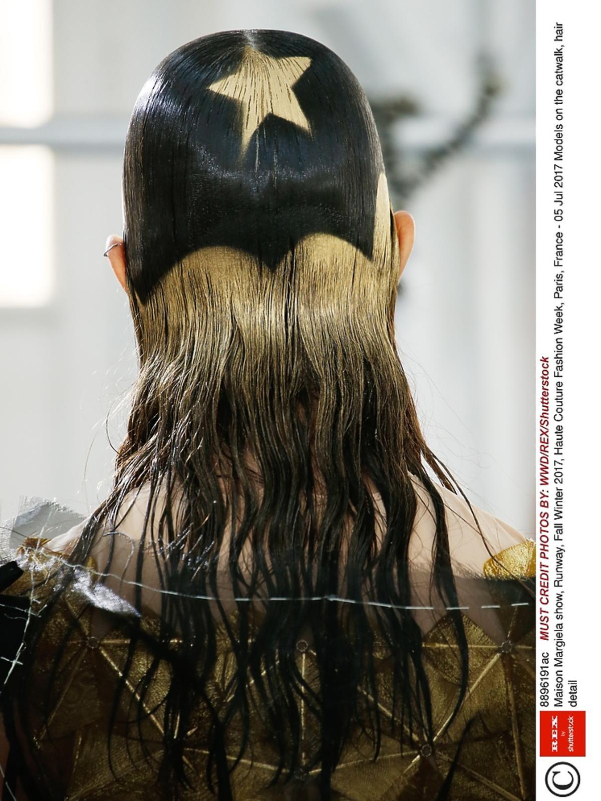Wzorek gwiazdy na włosach
