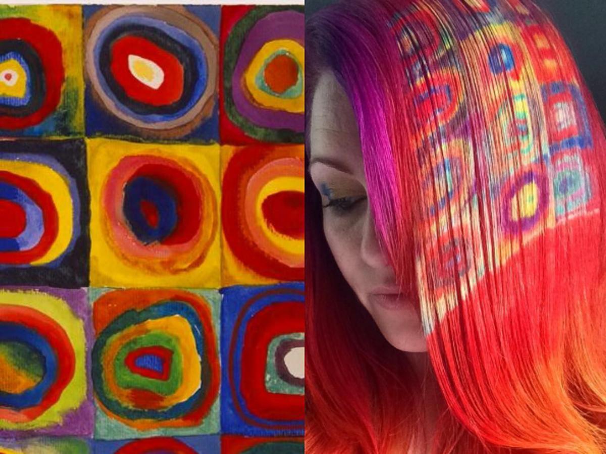 Studium koloru. Kwadraty z koncentrycznymi okręgami, Wassily Kandinsky