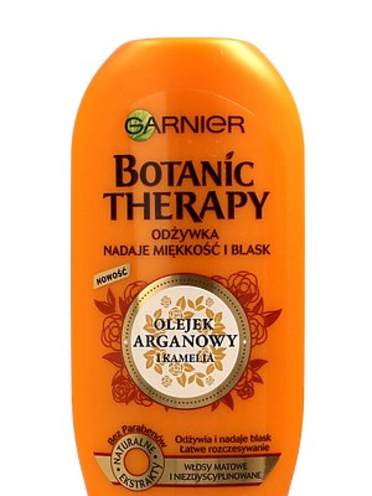 Garnier, Botanic Therapy, Olejek Arganowy i Kamelia, Odżywka do włosów nadająca miękkość i blask