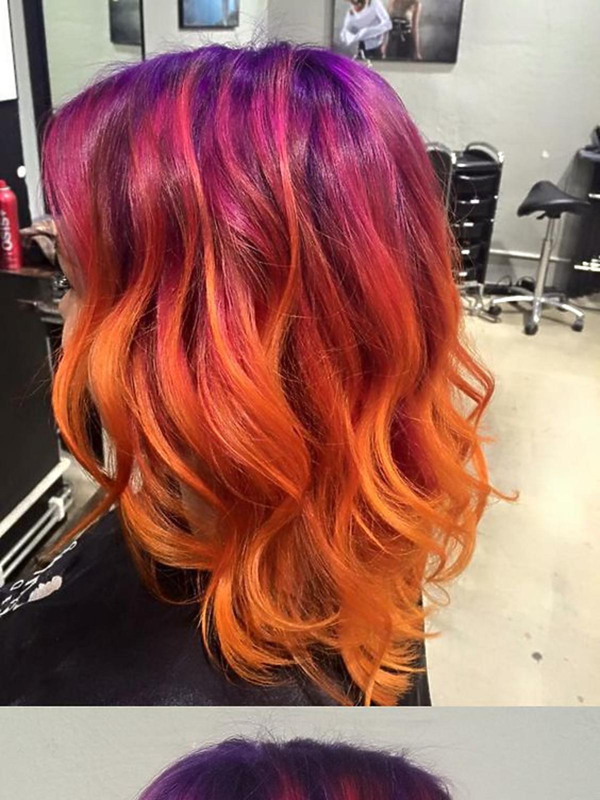 Sunset ombre, czyli efekt zachodzącego słońca na włosach