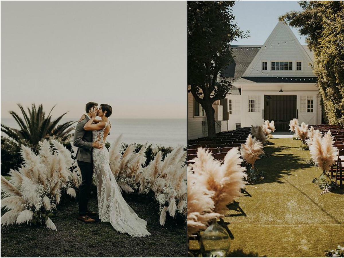 Trendy ślubne 2018 - trawy pampasowe