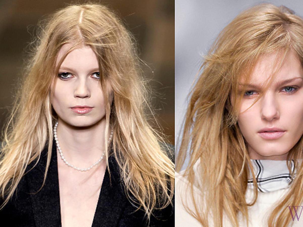 Niedbale rozpuszczone włosy, Yves Saint Laurent, Tru Trussardi