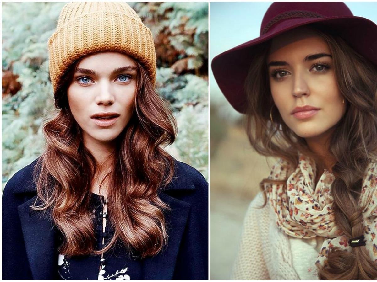 8 fryzur do czapek i kapeluszy
