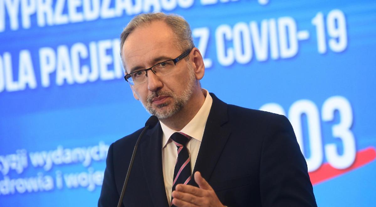 Adam Niedzielski konferencja ministerstwa zdrowia