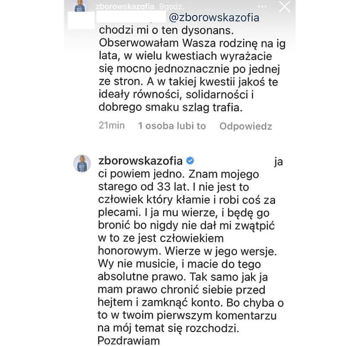 Afera szczepionkowa. Zofia Zborowska stanęła w obronie ojca