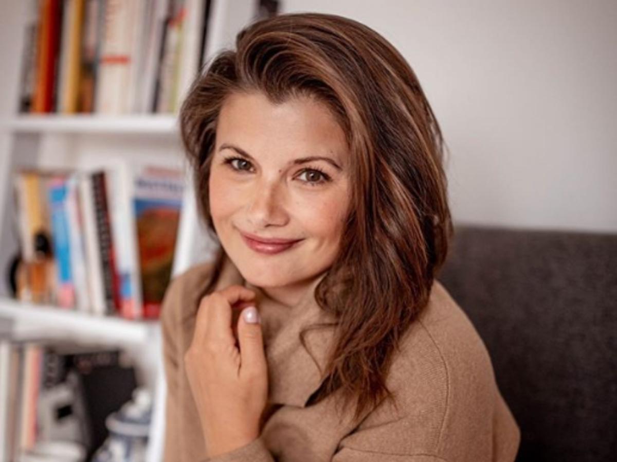 Agnieszka Sienkiewicz w supermodnych spodniach z Zary
