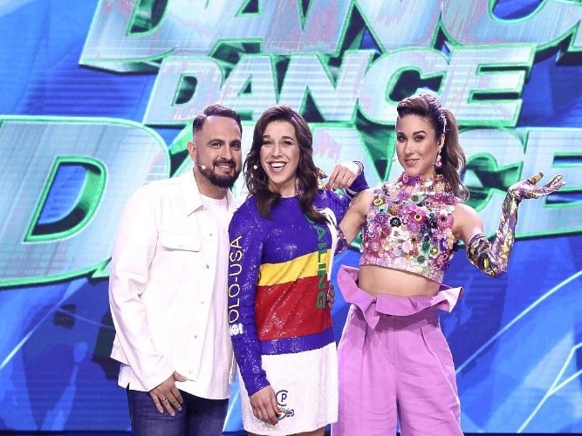 Agustin Egurrola, Ida Nowakowska i Joanna Jędrzejczyk w programie Dance Dance Dance