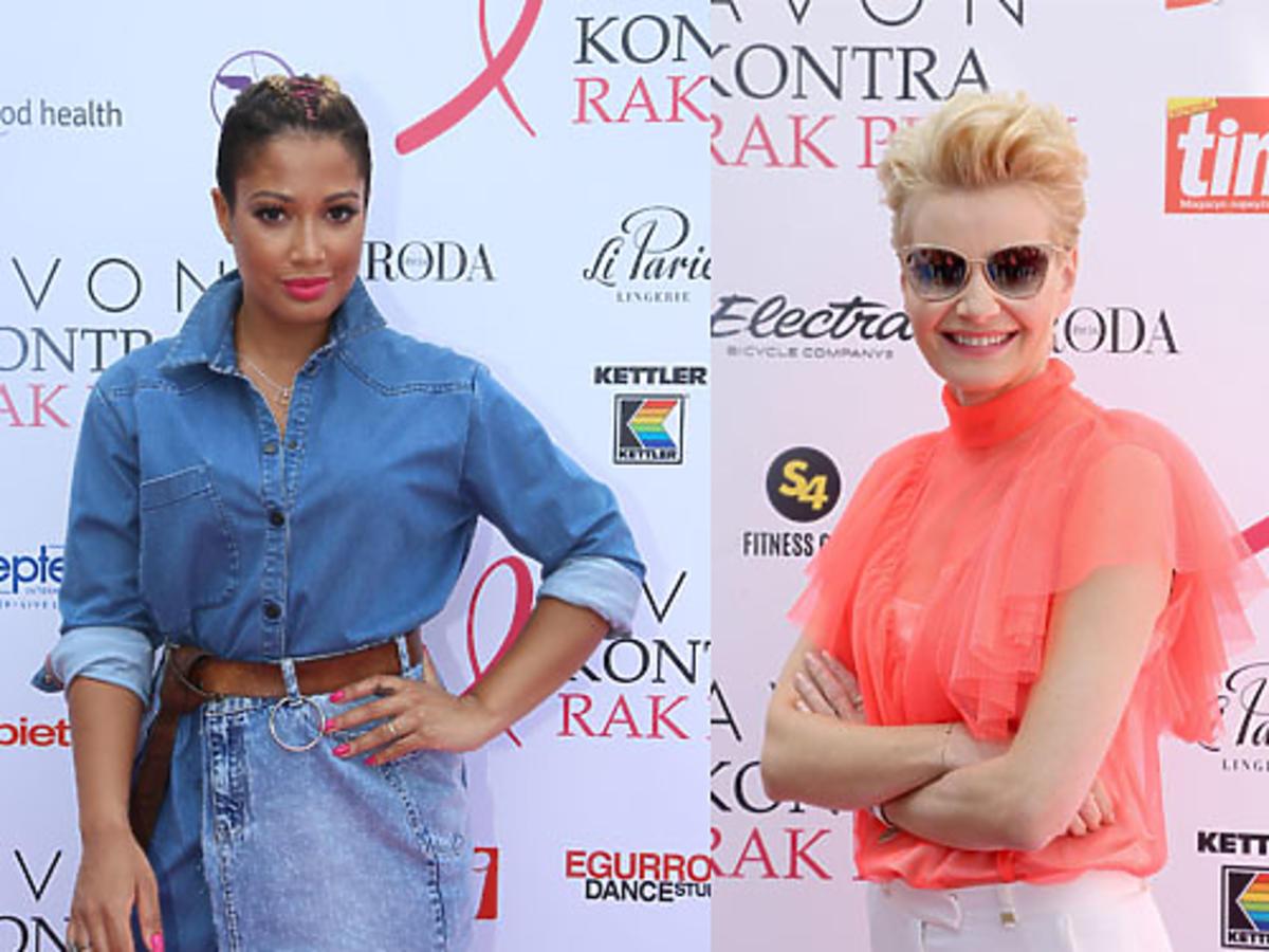 Ambasadorki AVON – Małgorzata Kożuchowska i Patricia Kazadi podczas finału akcji AVON kontra Rak Piersi