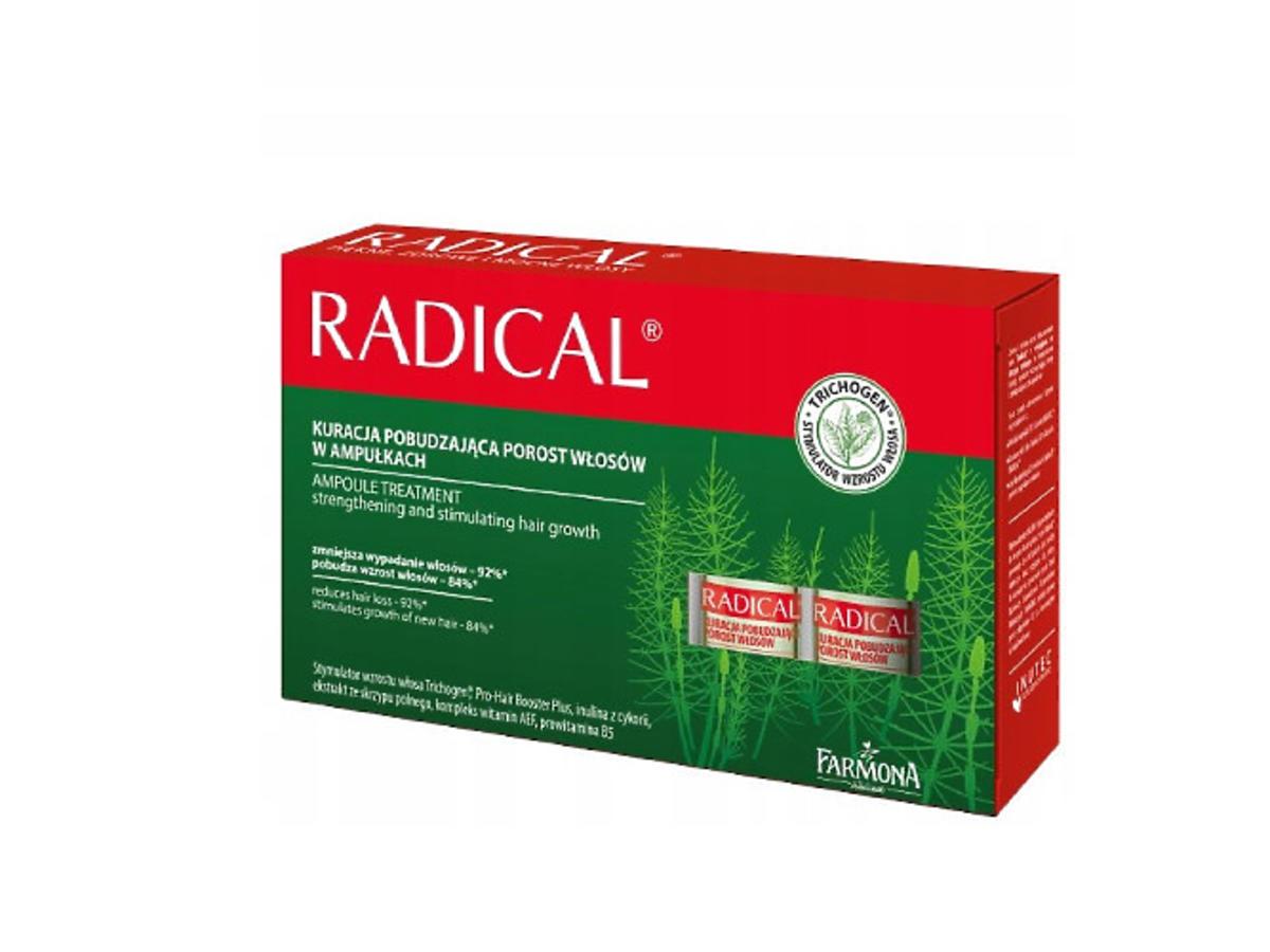 Ampułki stymulujące wzrost włosów Radical