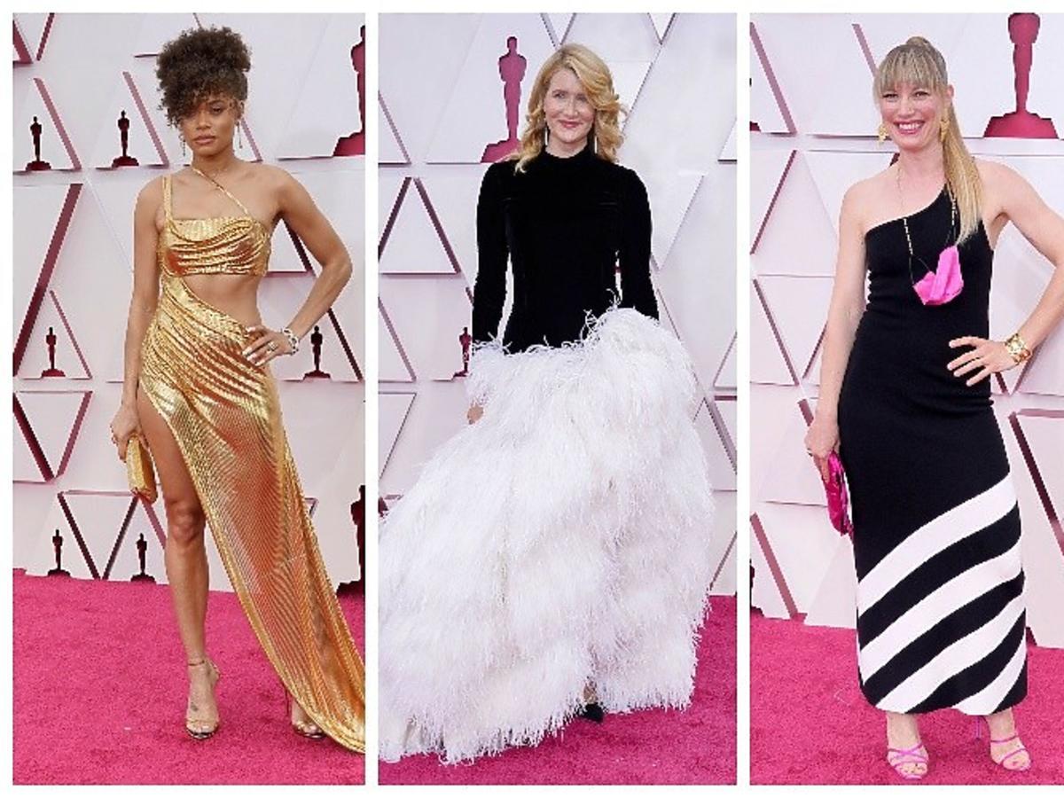 Andra Day, Laura Dern i Elvira Lind na gali wręczenia Oscarów 2021