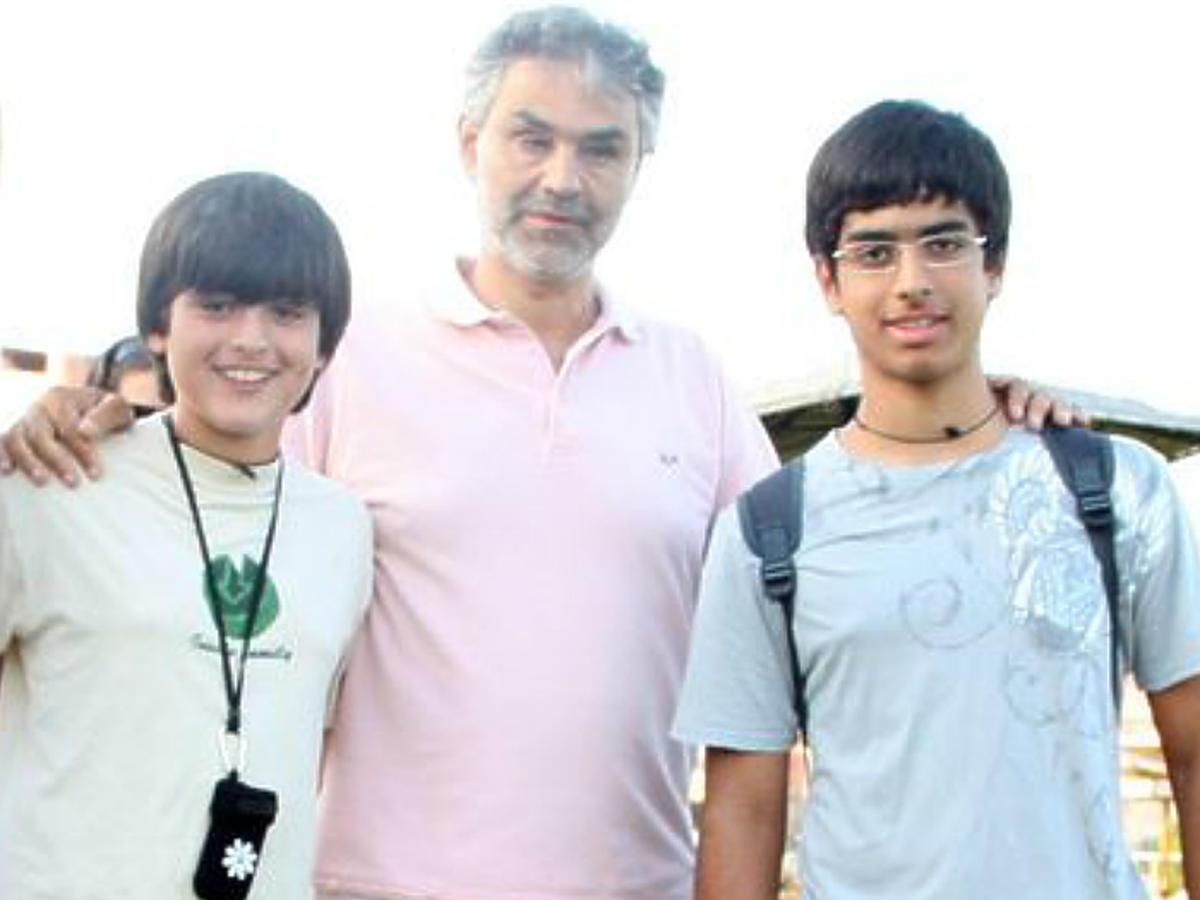 Andrea Bocelli z synami