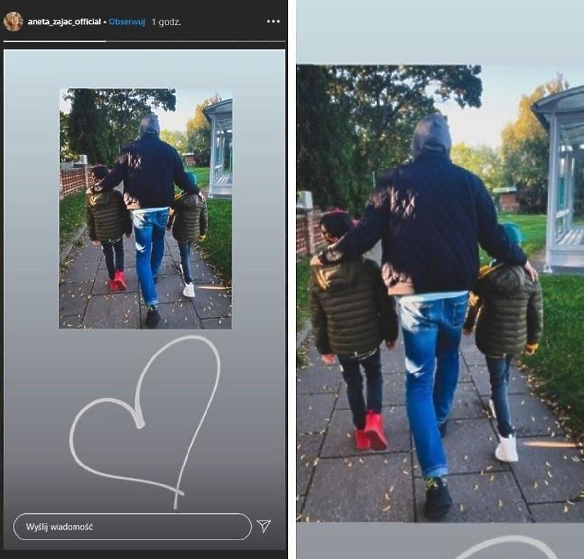 Aneta Zając pokazała partnera na spacerze z synami