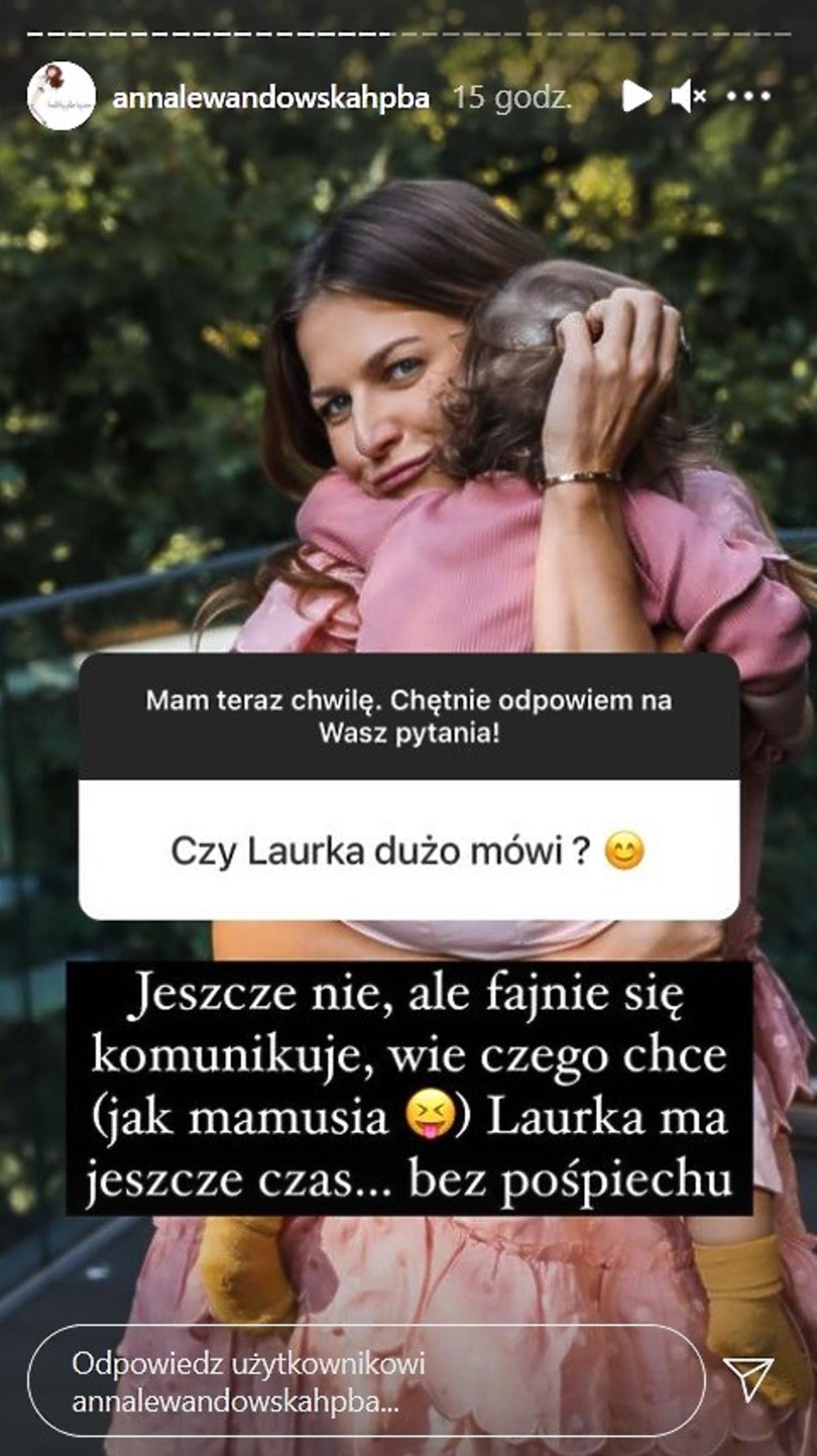 Anna Lewandowska o Laurze