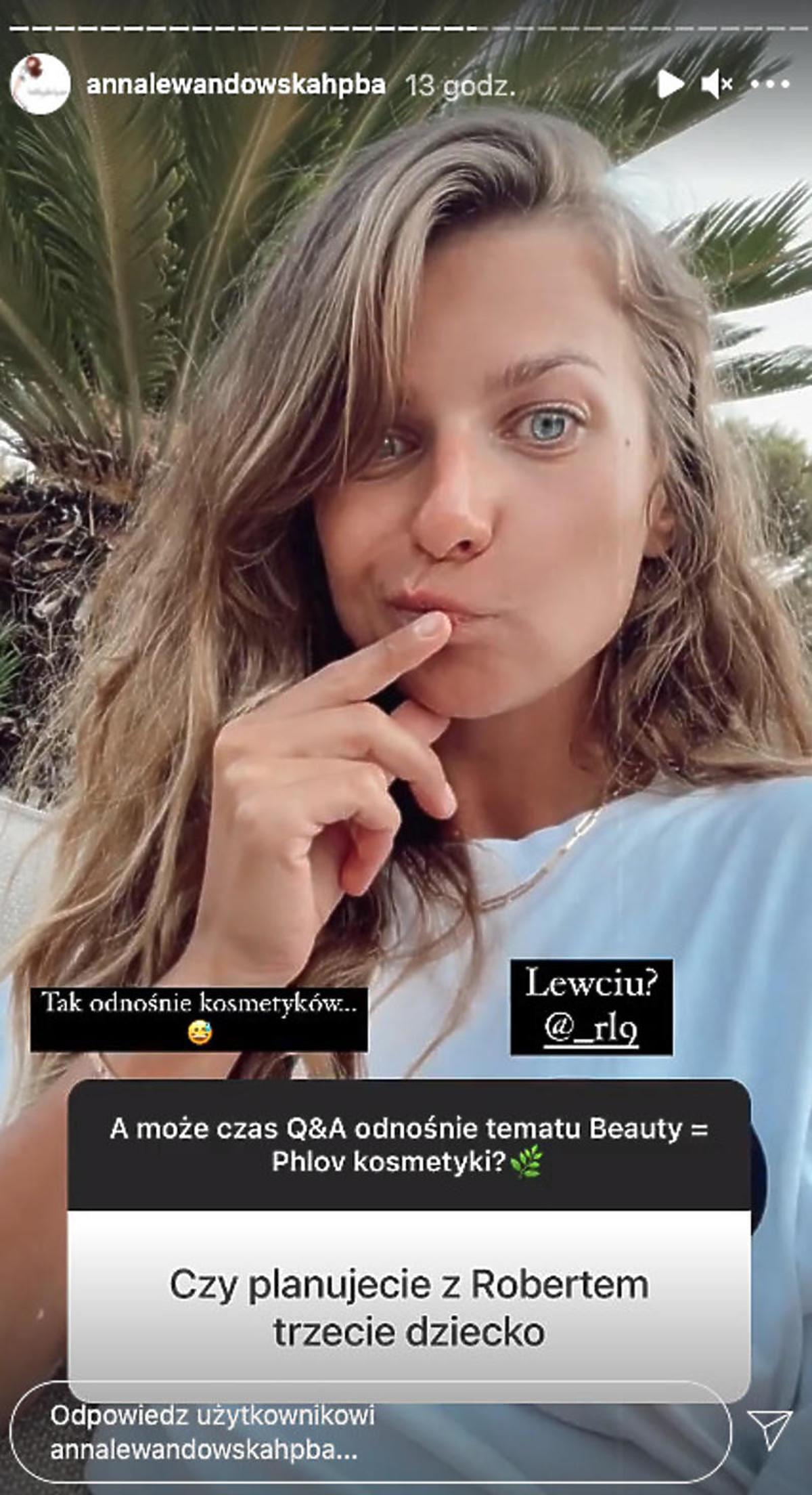 Anna Lewandowska o trzeciej ciąży
