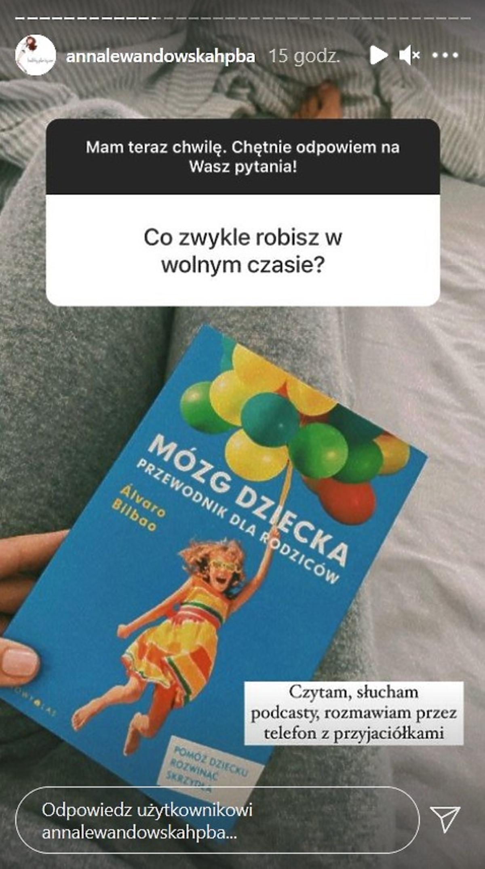 Anna Lewandowska o wolnym czasie