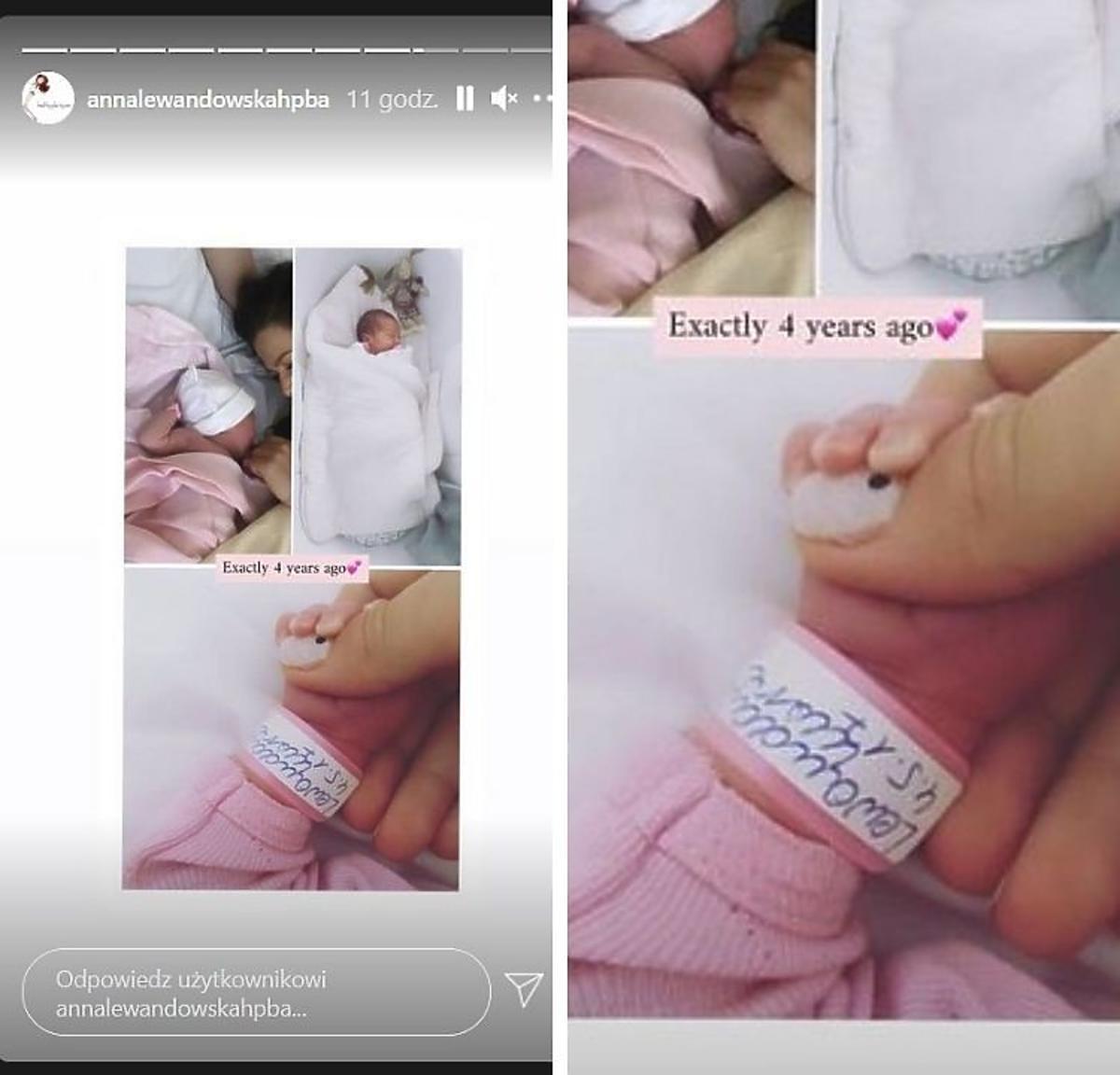 Anna Lewandowska zdjęcia z porodówki i pomalowane paznokcie