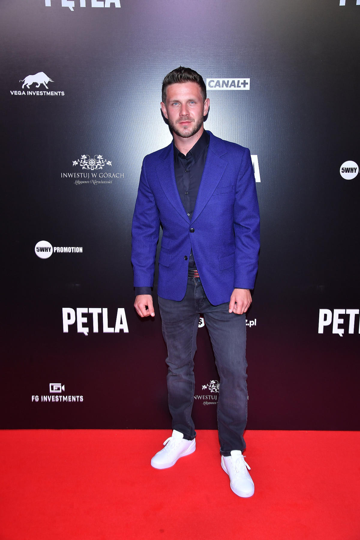 "Antek Królikowski na premierze filmu ""Pętla"""