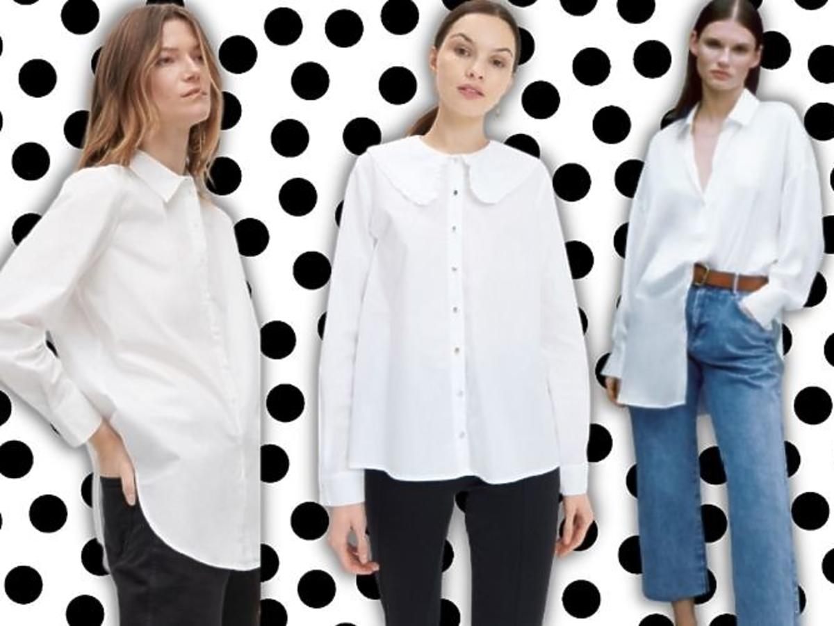 biała koszula przegląd sieciówek