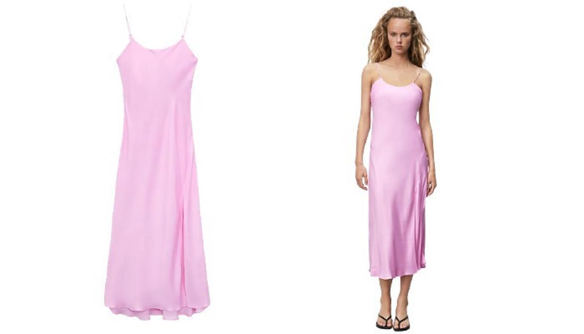 bieliźniana sukienka z Zary
