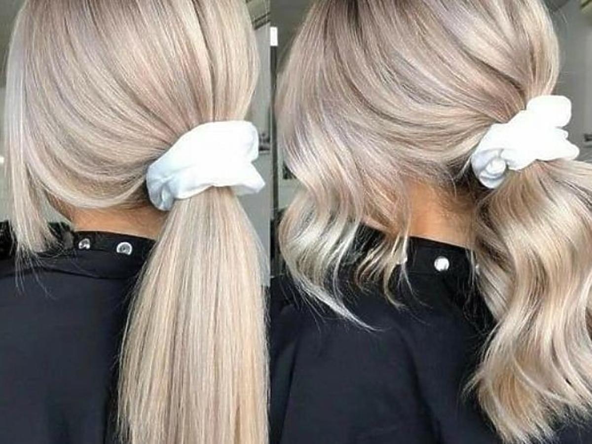 Blond włosy po fioletowym szamponie od Self Project