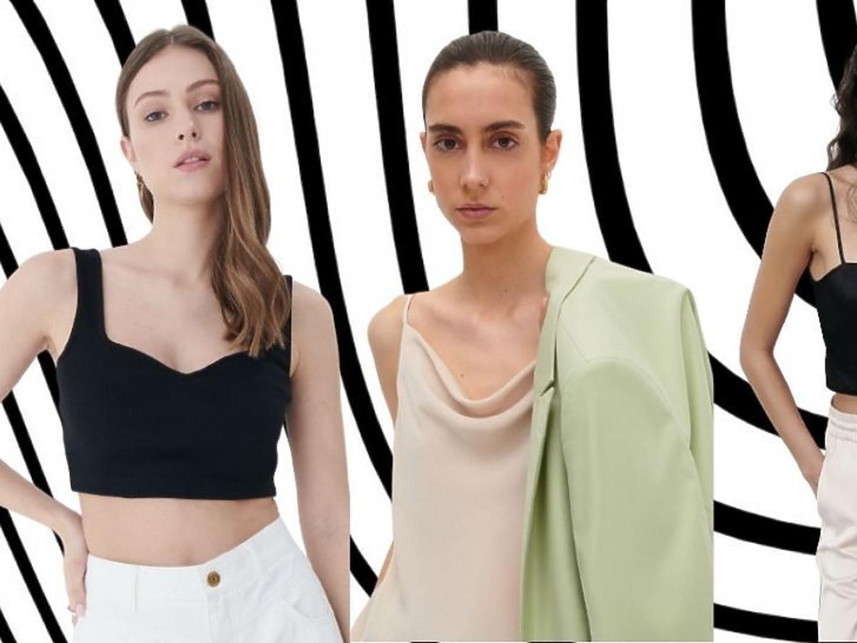 bluzki na ramiączkach hitowe modele z Instagrama