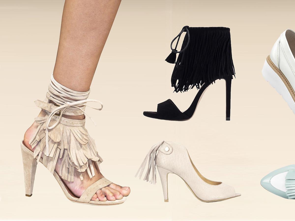 buty z frędzlami
