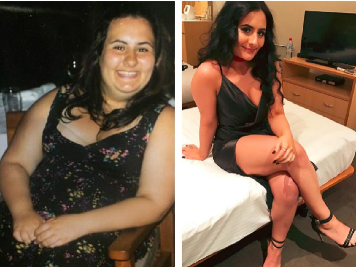 Cassandra Hili - metamorfoza zdjęcia przed i po odchudzaniu
