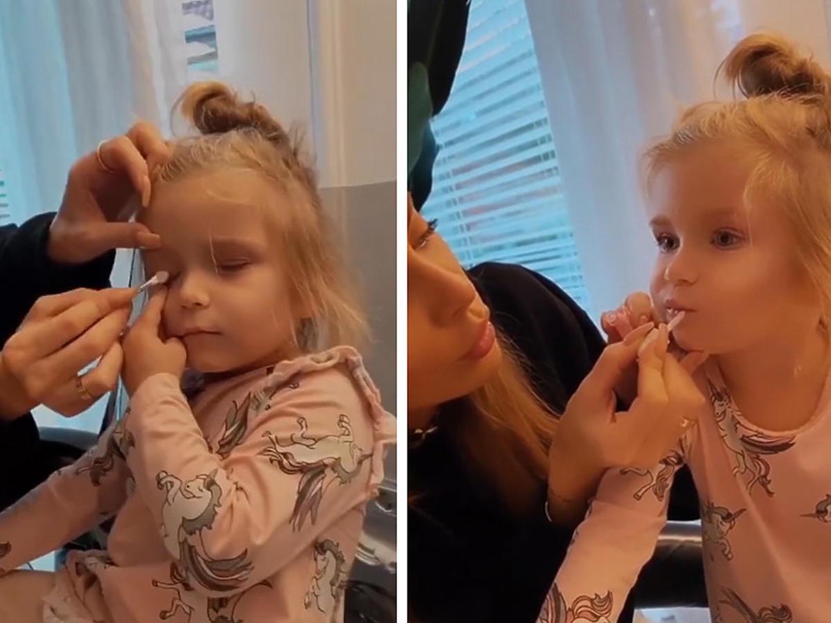 córka Natalii Siwiec w makijażu