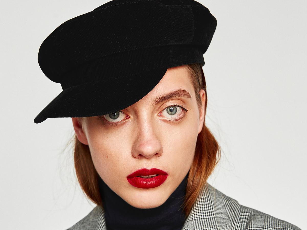 czapka bretonka zara z daszkiem