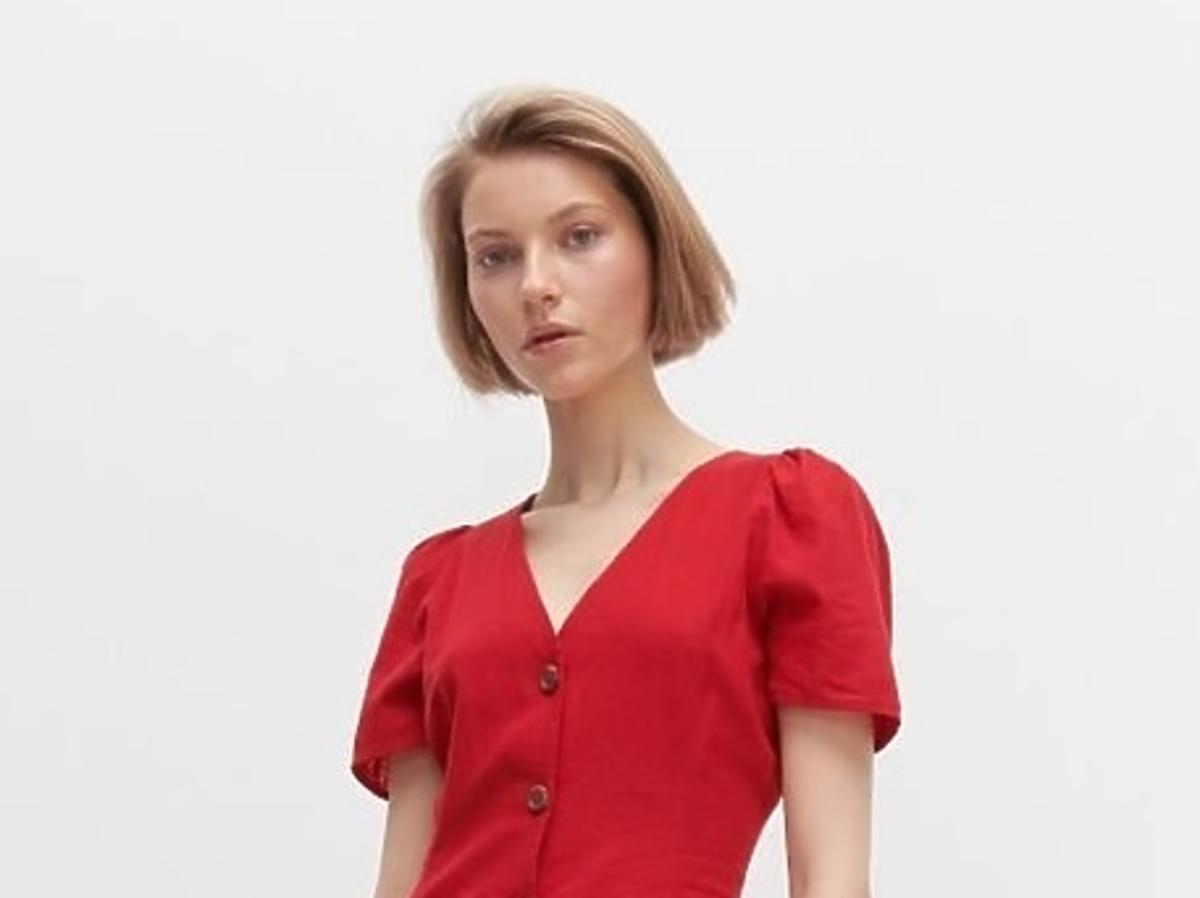 czerwona sukienka reserved wyprzedaż lato 2020