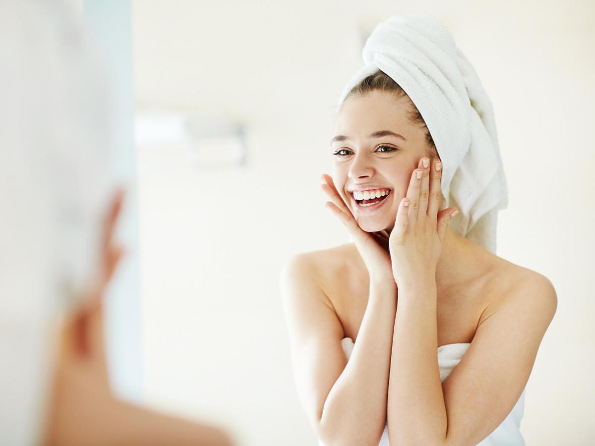 czysta skóra po zastosowaniu mydła Dudu-Osun
