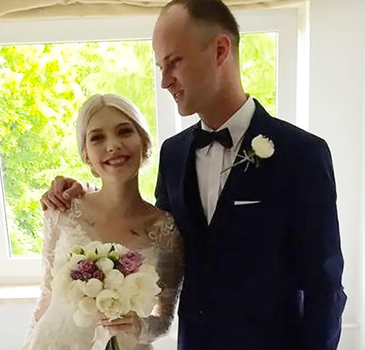 Daria i jej mąż - zdjęcie ślubne